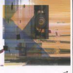 Victor VAYSSE, Logistics, impression papier aquarelle format A4, contre-collage alu, 2019
